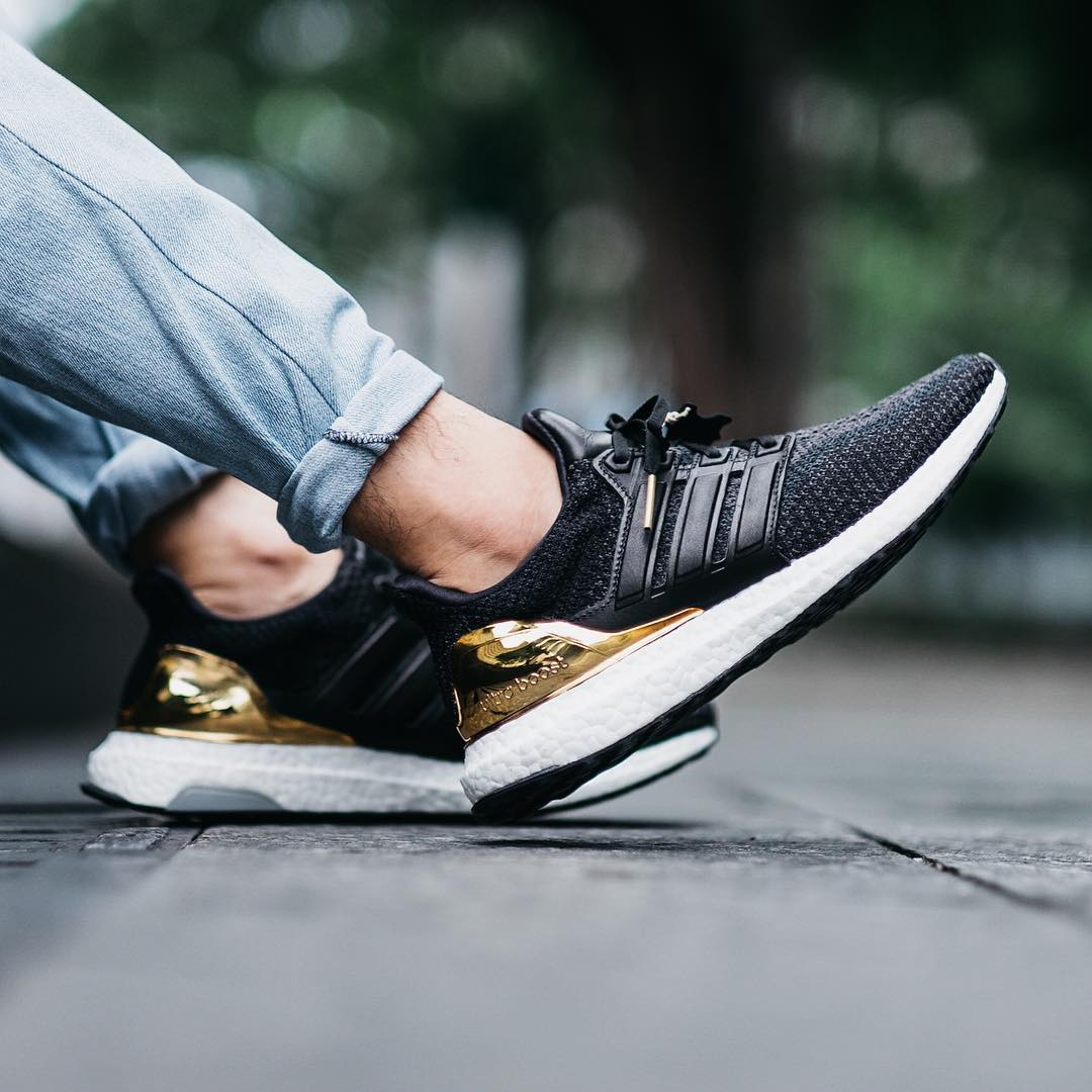 The long-awaited Black × Gold Adidas UltraBoost LTD. is finally here