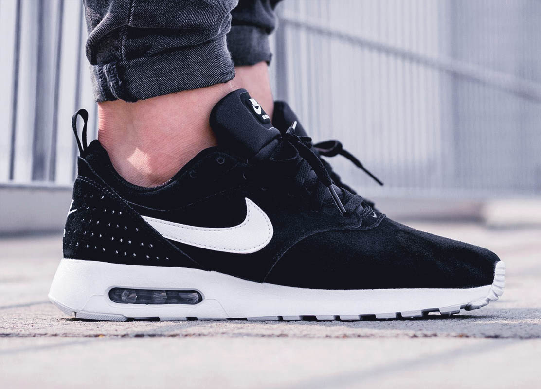 New Nike Air Max Tavas LTR in all black suede