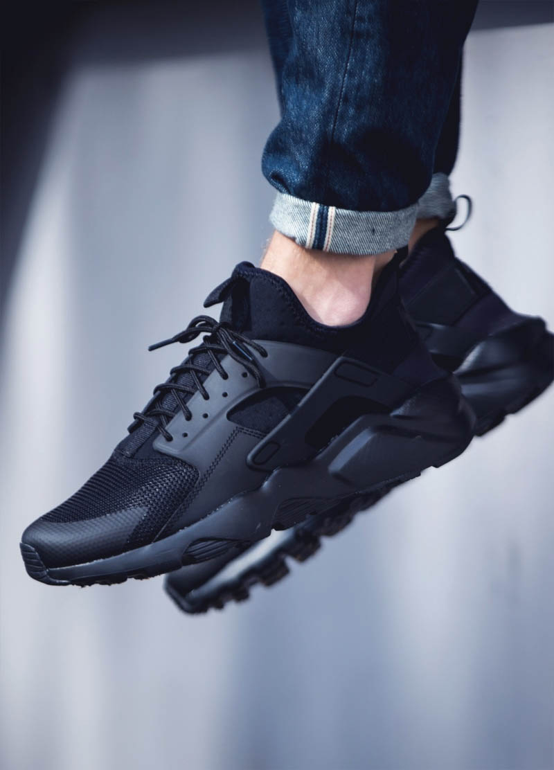 66bd8fbddb21 Nike Air Huarache Ultra in a lovely  Blackout  colorway