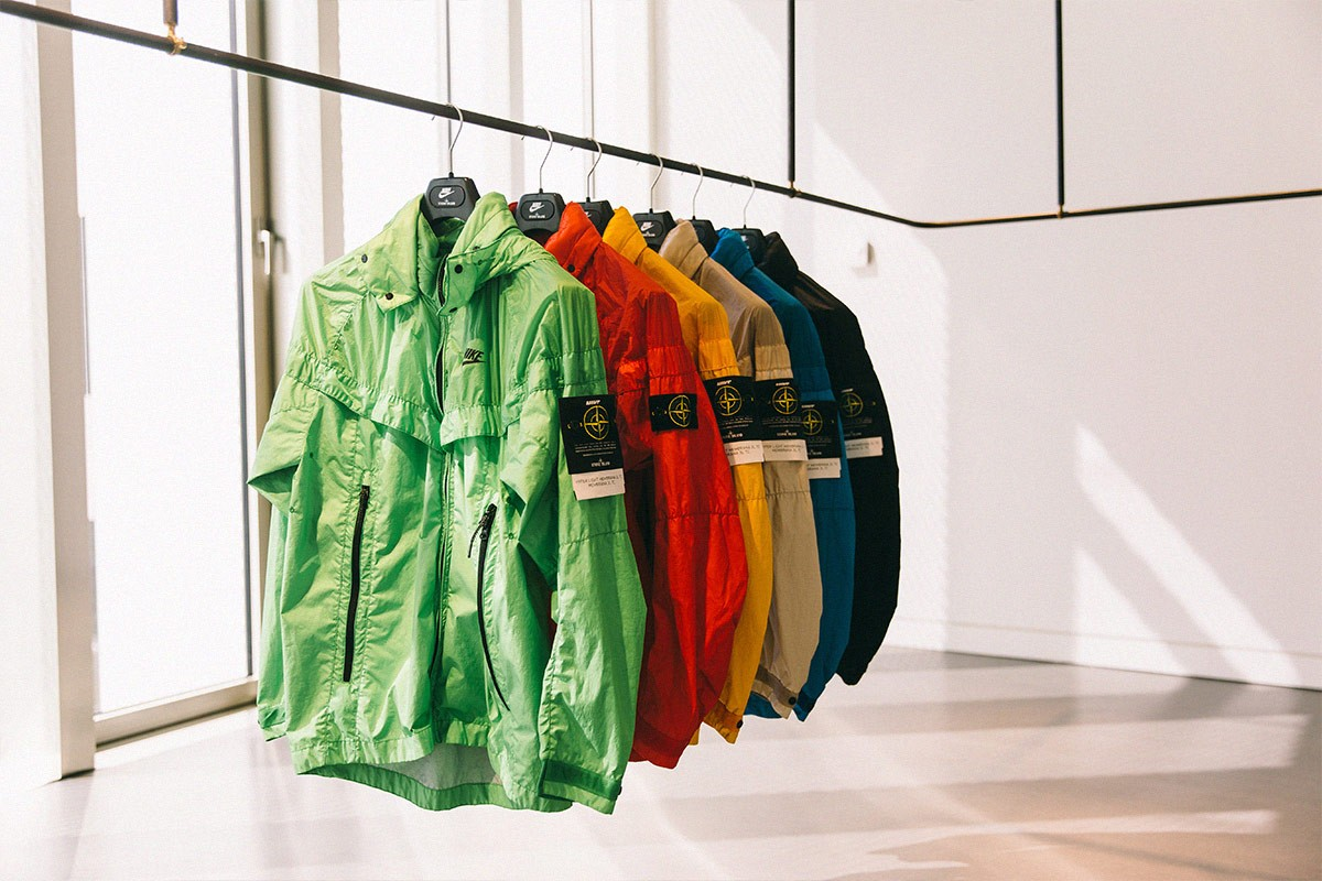 Colorful windbreakers from Nike x Stone Island collab!