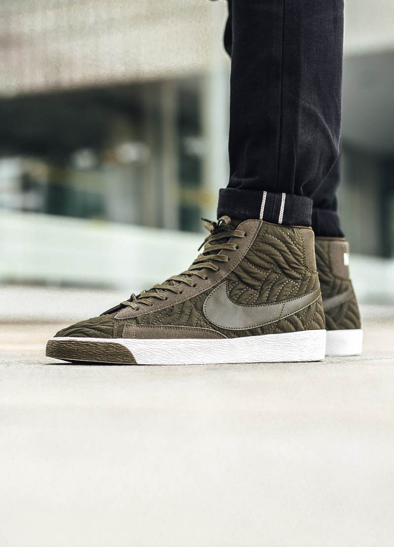 78331224fa01 NIKE Wmns Blazer mid Premium SE Nylon Quilted Like a Fall Jacket for Your  Feet
