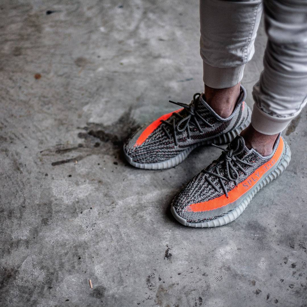 UA Yeezy Boost 350 V 2 Beluga SPLY 350 Gray / Orange Unboxing