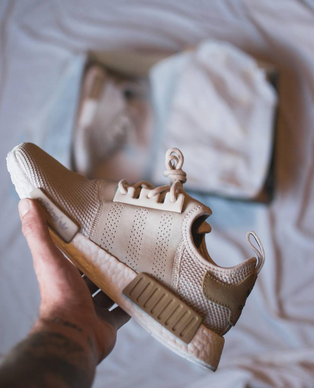 Perforated Suede Panel NMDs