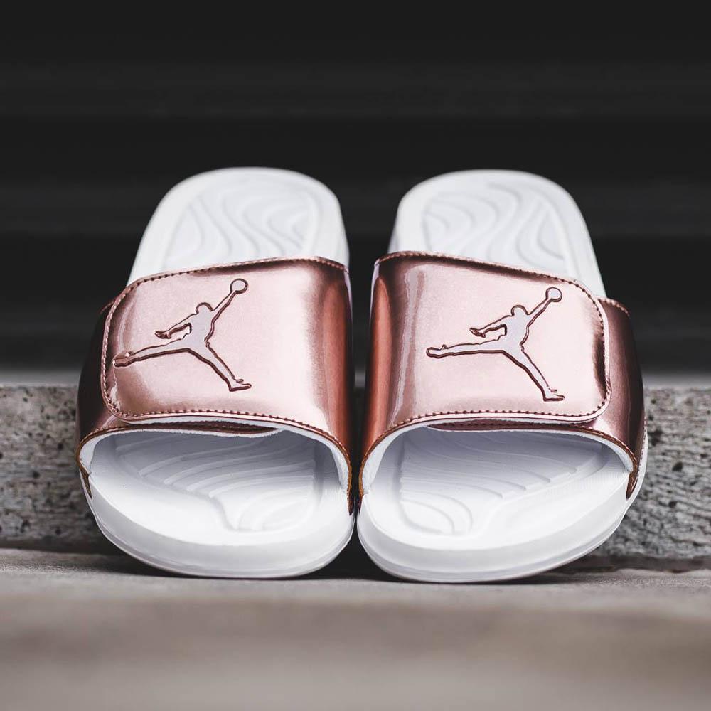 Jordan Hydro 5 'Pinnacle' bronze luxury looking slippers