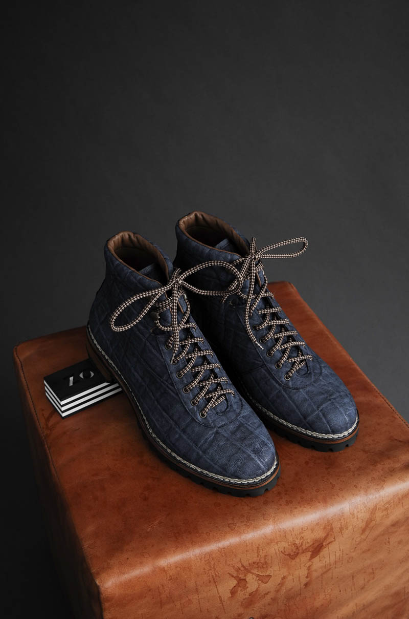 Blue Elephant Leather Boots