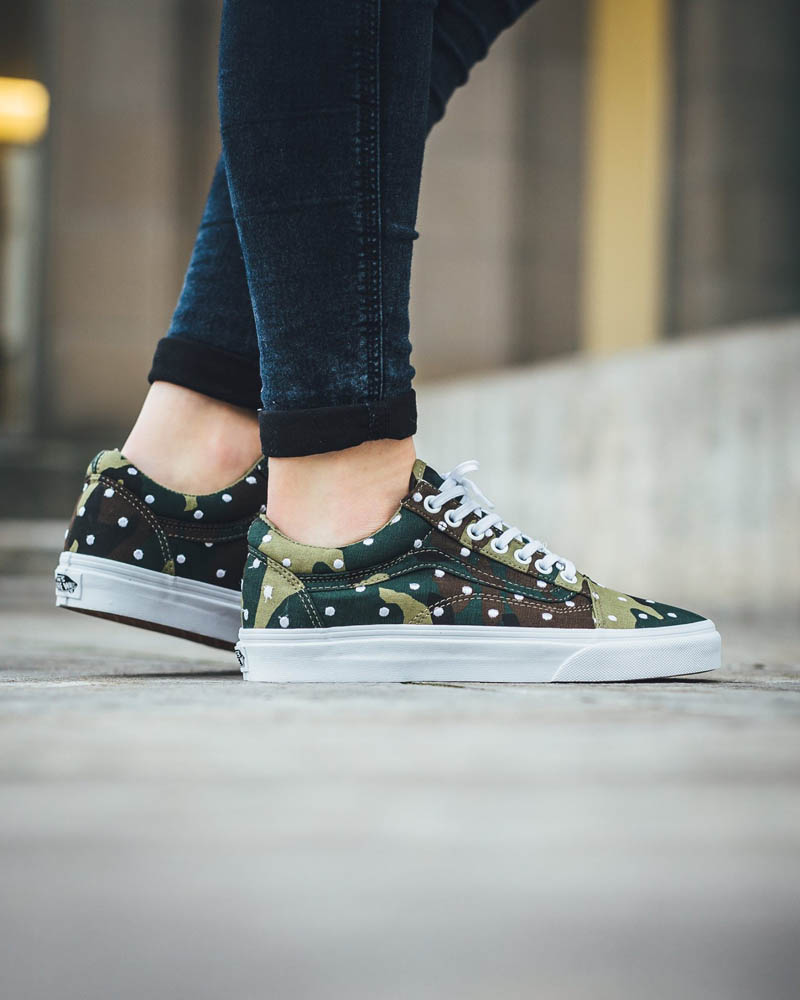 VANS Old Skool Camo x Polka Dot