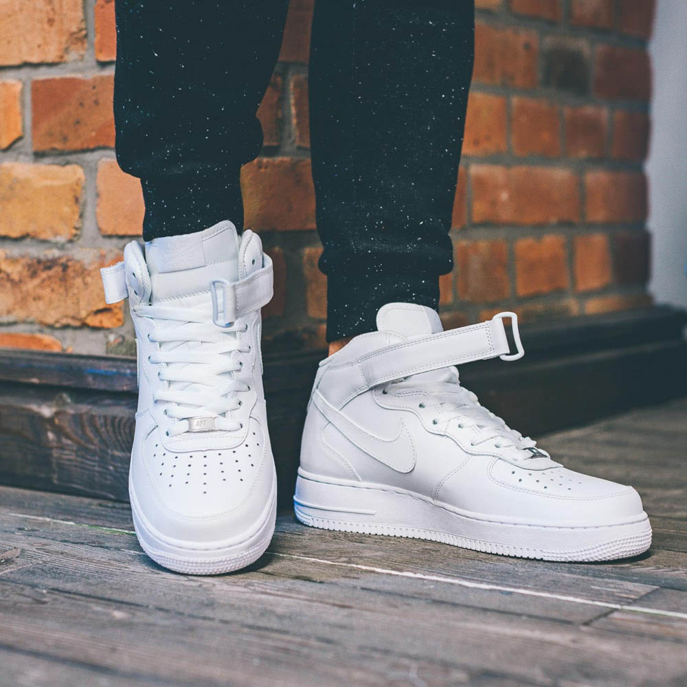 White AF1 paired w/Galaxy pants