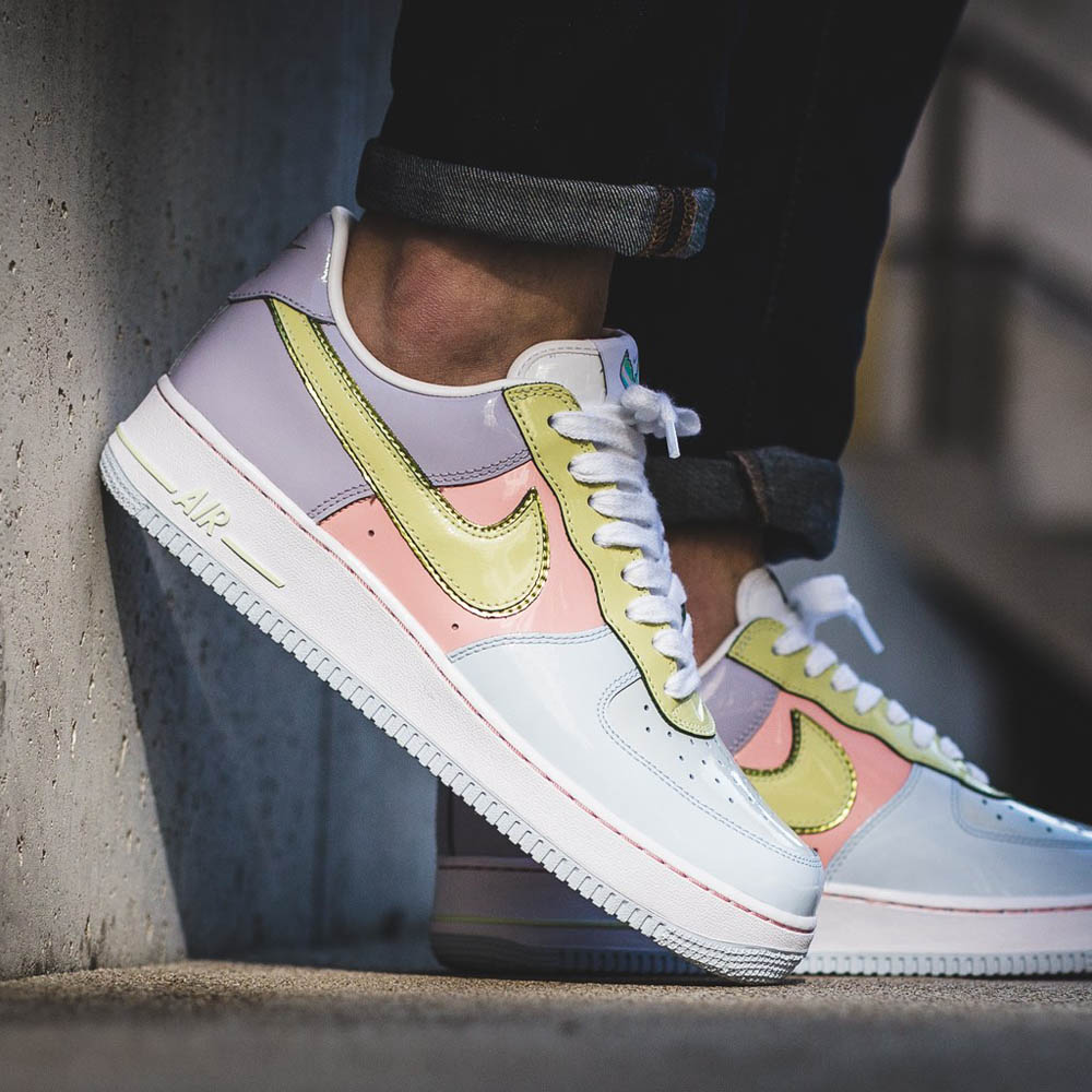 NIKE Air Force 1 Low, Titanium & Lime