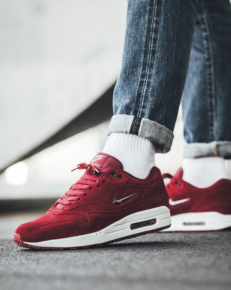 huge discount c720b 02b20 aliexpress nike air max 1 running shoe mens team red velvet brown 5086e  9d559  hot nike air max 1 premium dark green jewel 72aef e6b25